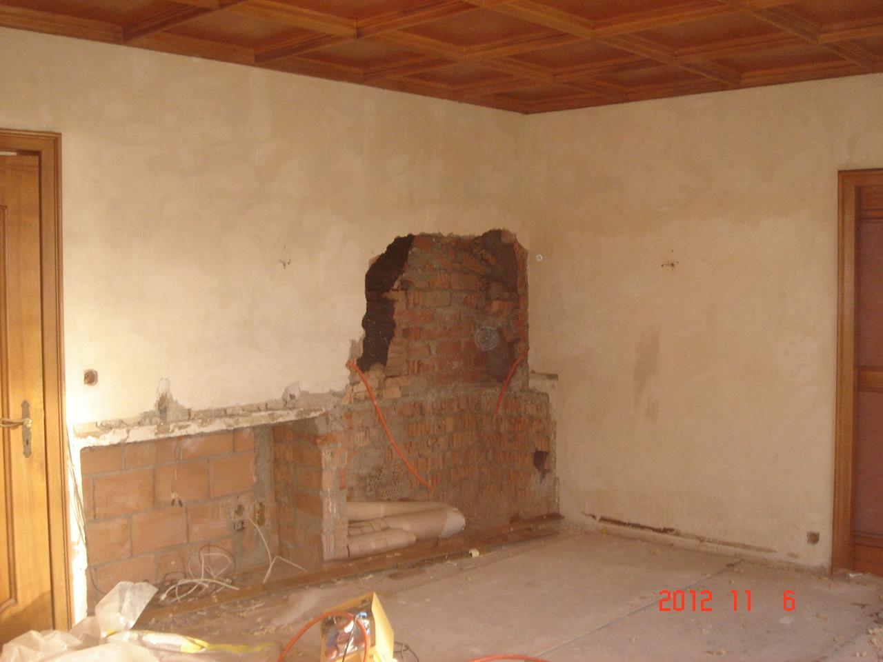 Gicot partenaires r am nagement int rieur d une villa au bord du lac - Demolition cheminee ancienne ...